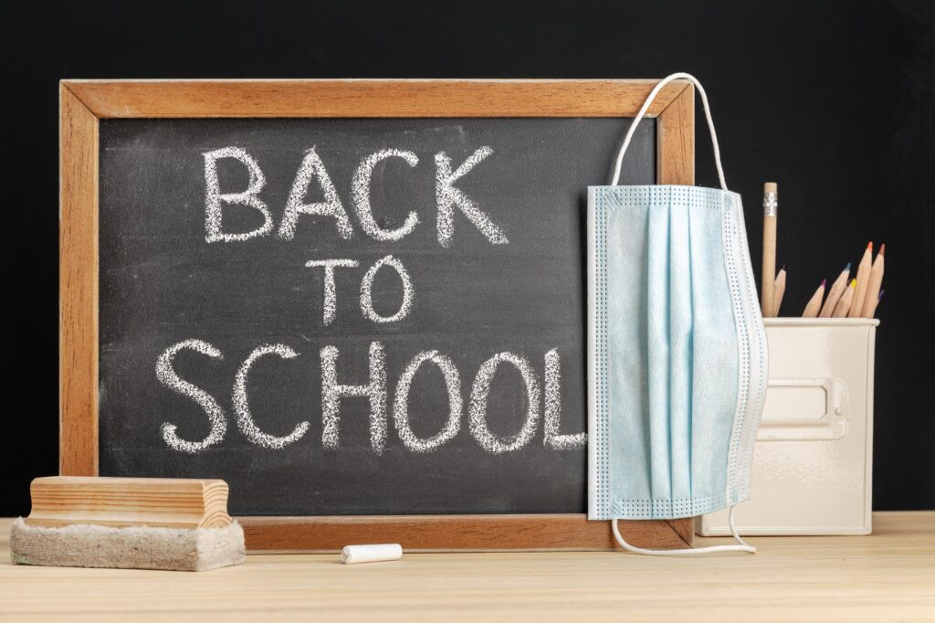 Return to school during covid-19 concept